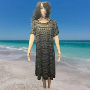 Nwts Lularoe Carly Swing Dress Size Large Geo